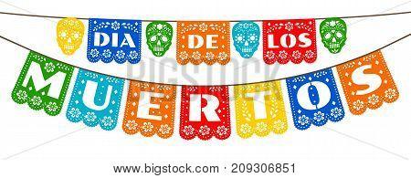 Mexican bunting for Day of the Dea, Dia de los Muertos