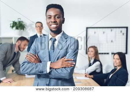 African American Manager With Crossed Arms
