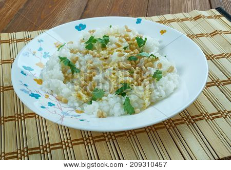 Lebanese Rice with VermicelliMediterranean Dish , close up meal