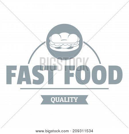 Sandwich logo. Simple illustration of sandwich vector logo for web