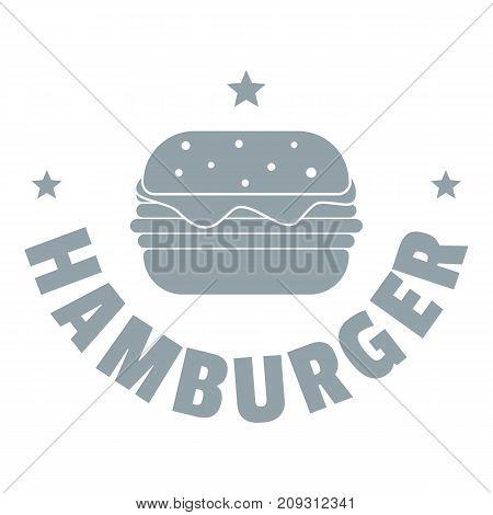 Hamburger logo. Simple illustration of hamburger vector logo for web