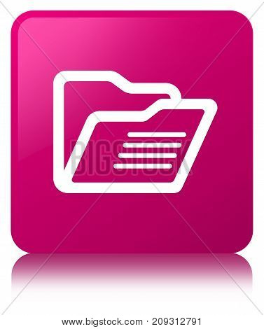 Folder Icon Pink Square Button