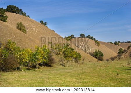Landscape Of Sandy Hills In Fall