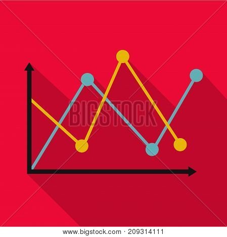 Line diagram icon. Flat illustration of diagram vector icon for any web design