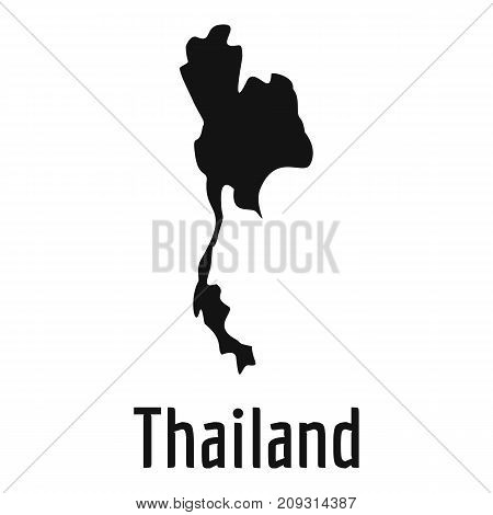 Thailand map in black. Simple illustration of Thailand map vector isolated on white background