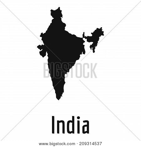 India map in black. Simple illustration of India map vector isolated on white background