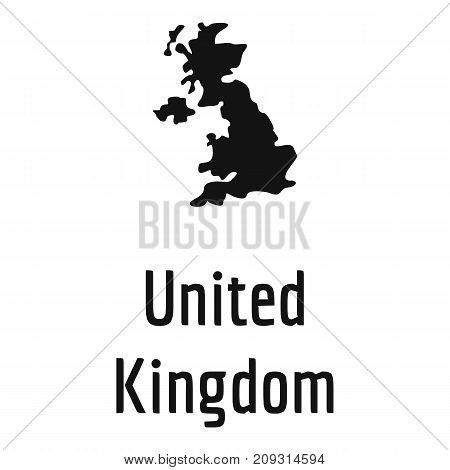 United Kingdom map in black. Simple illustration of United Kingdom map vector isolated on white background