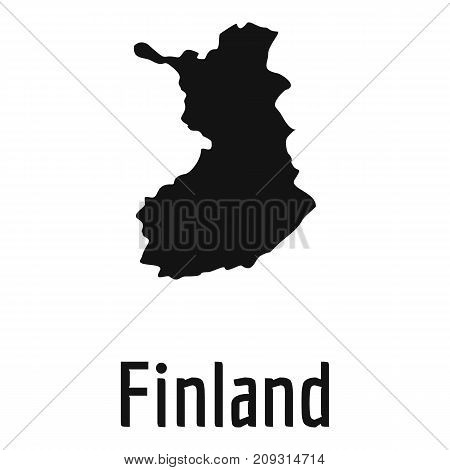 Finland map in black. Simple illustration of Finland map vector isolated on white background