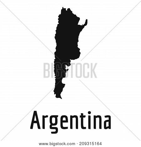 Argentina map in black. Simple illustration of Argentina map vector isolated on white background