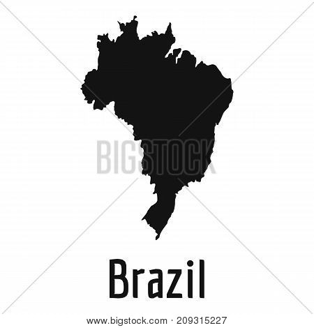 Brazil map in black. Simple illustration of Brazil map vector isolated on white background