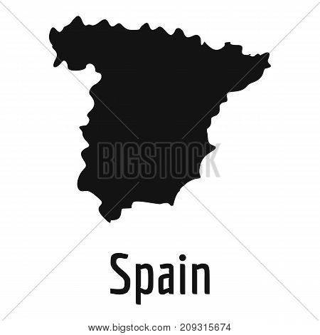 Spain map in black. Simple illustration of Spain map vector isolated on white background