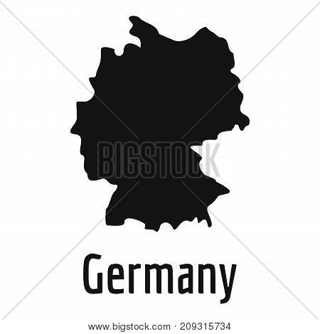 Germany map in black. Simple illustration of Germany map vector isolated on white background