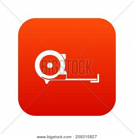 Construction roulette icon digital red for any design isolated on white vector illustration