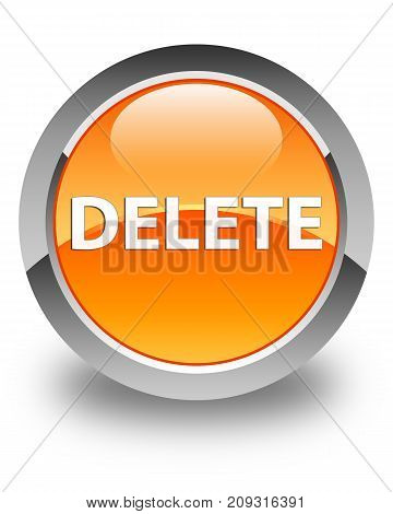 Delete Glossy Orange Round Button