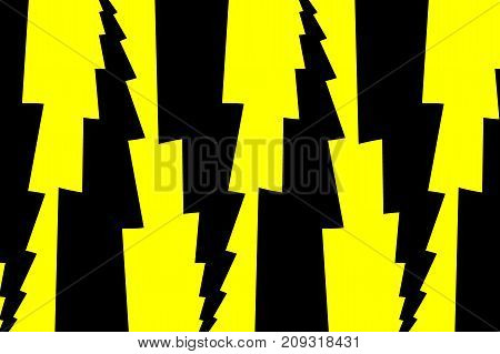Lightning bolt - abstract geometric vector pattern - black and yellow , Thunder abstract background