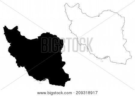 Iran map vector illustration , scribble sketch Iran
