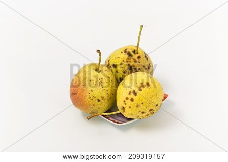 Ripe Pear Of Winter Varieties On A White Background.