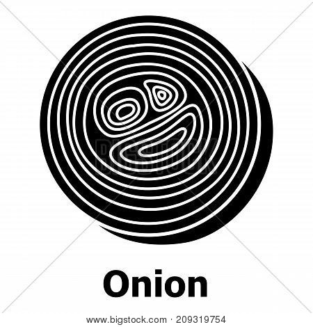 Onion icon. Simple illustration of onion vector icon for web