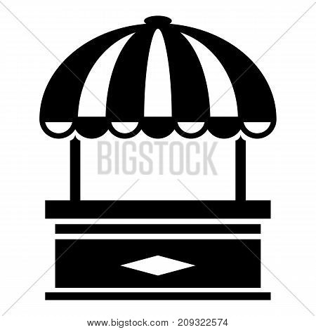 Table stall icon. Simple illustration of table stall vector icon for web