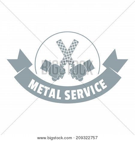 Saw tool logo. Vintage illustration of saw tool vector logo for web