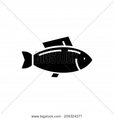 fish - tuna icon, illustration, vector sign on isolated background
