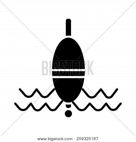 float fishing icon, illustration, vector sign on isolated background