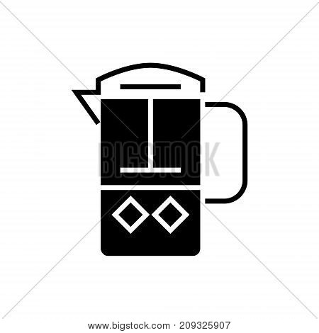 french press icon, illustration, vector sign on isolated background