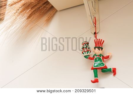 Christmas decoration elf with ears to december