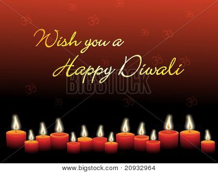 diwali background with collection of candles