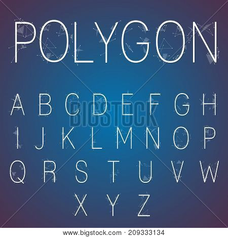 Full set of geometric polygonal alphabet and numbers