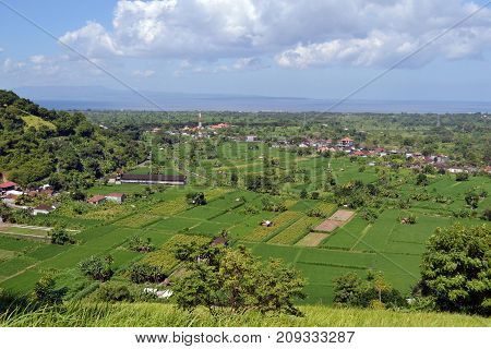 The Wonderful View Of Karangasem Regency In Bali, Indonesia