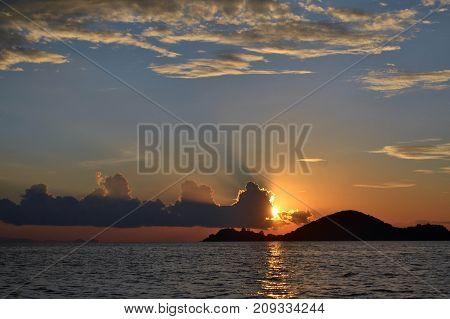 Sunset Around Komodo Island, Indonesia
