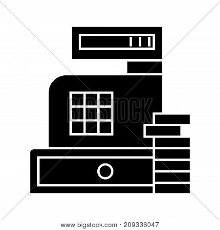 payment - cash register machine icon, illustration, vector sign on isolated background