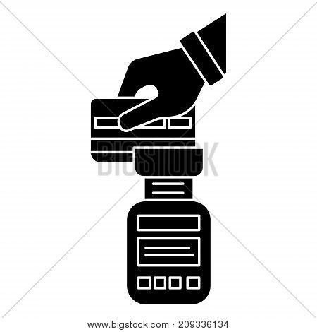 payment card device  icon, illustration, vector sign on isolated background