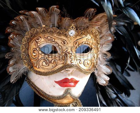 a beautiful mask of the carnival of Venice