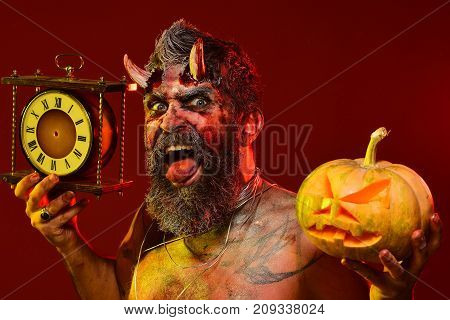 Halloween Autumn Holidays Concept