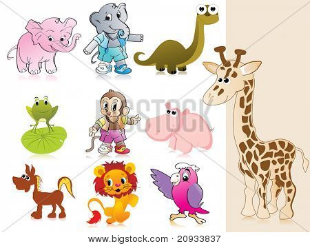 background with collection of animal