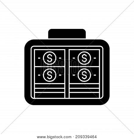 portfolio money - investment - banknotes icon, illustration, vector sign on isolated background