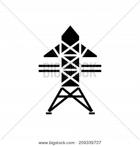 power line icon, illustration, vector sign on isolated background