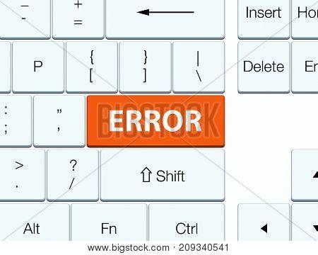 Error Orange Keyboard Button