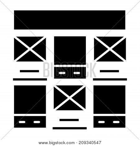 prototype webdesign icon, illustration, vector sign on isolated background