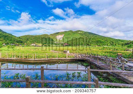 Countryside farmland a rural area of Taiwan