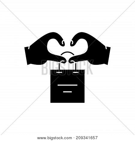 relationship client marketing icon, illustration, vector sign on isolated background