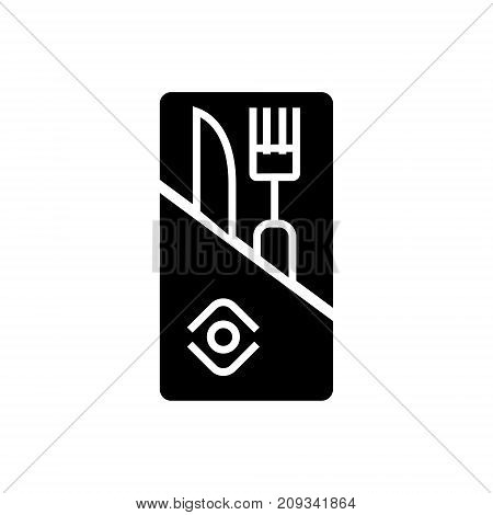 restaurant service - knife and fork icon, illustration, vector sign on isolated background