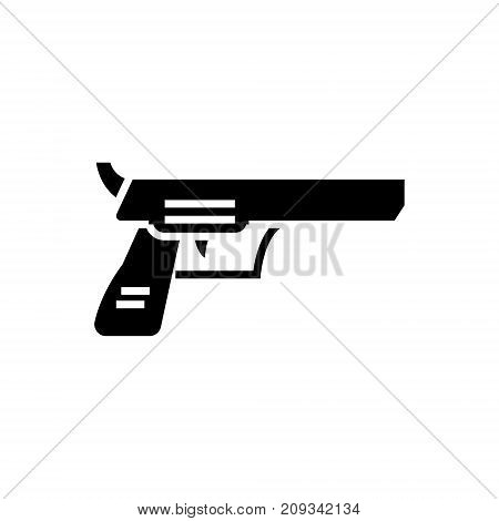 revolver pistol icon, illustration, vector sign on isolated background