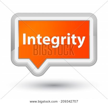 Integrity Prime Orange Banner Button