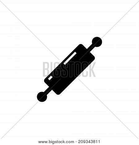 rolling pin icon, illustration, vector sign on isolated background