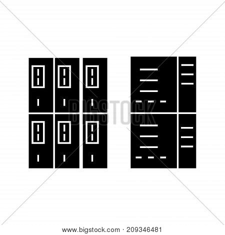 servers icon, illustration, vector sign on isolated background