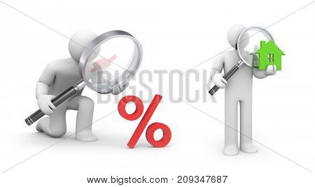 Time to Discount and time to buy. 3d illustration
