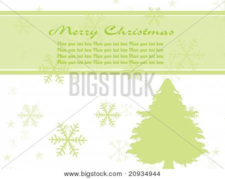 illustration green pine tree vector illustration background